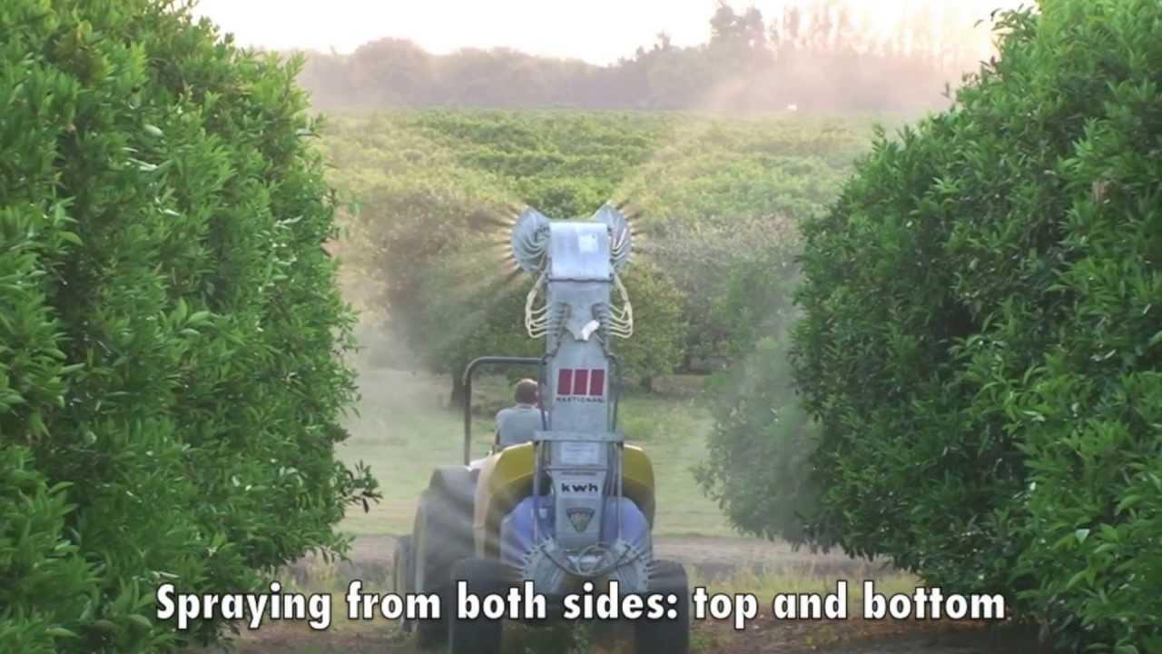 Martignani Electrostatic Agricultural Sprayer Demo On