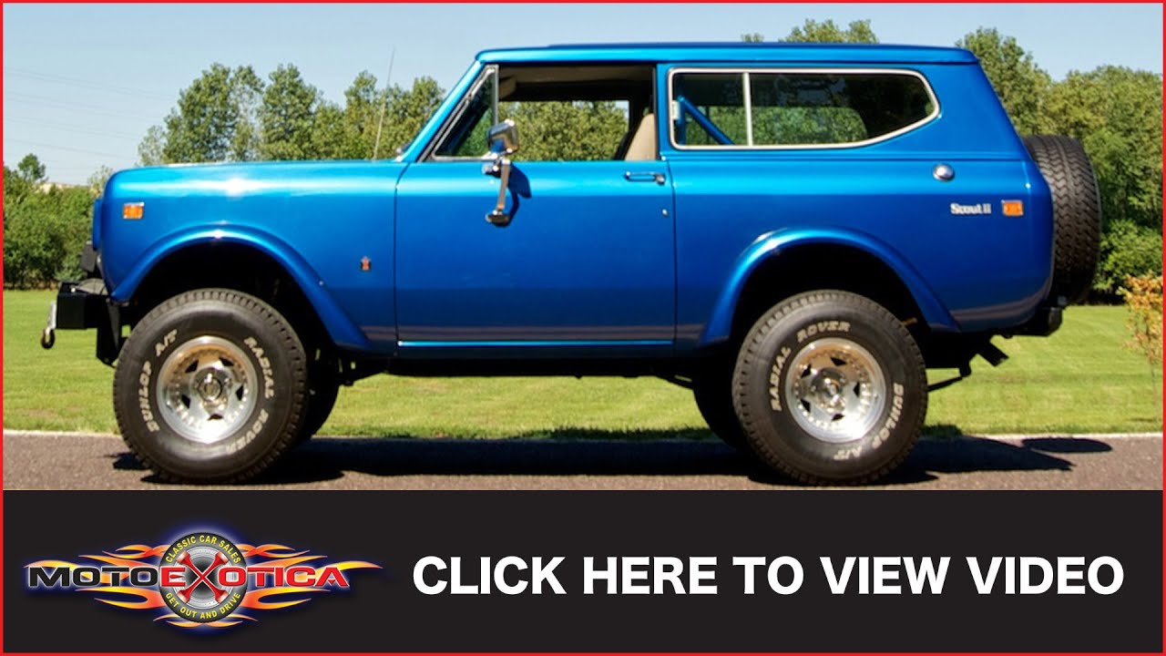 International Scout II 1977 [bimini blue poly] for Spin Tires