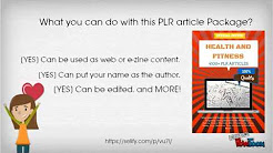 How to get High Quality Health and Fitness PLR Articles from as low as $0.005?