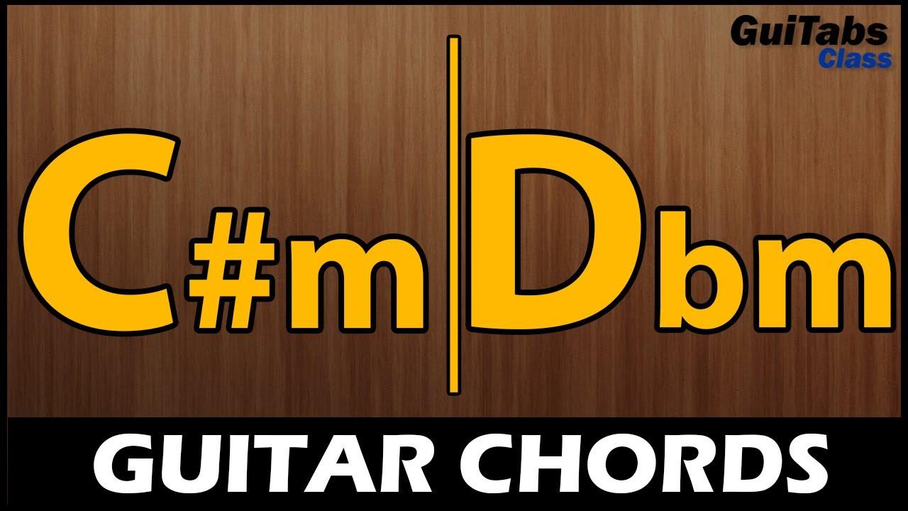 C#m CHORD / Dbm CHORD 🎸- Beginner GUITAR Chords 🎓- How to play the C# Minor / Db Minor Chord 🎵