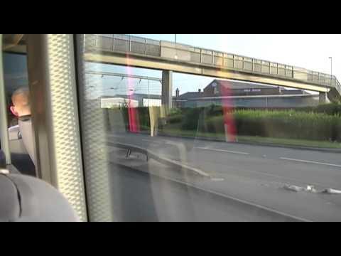 Extreme Slowness! - First Leeds Hyperlink Wright Streetcar Volvo B7LA 19008 YK06 ATZ
