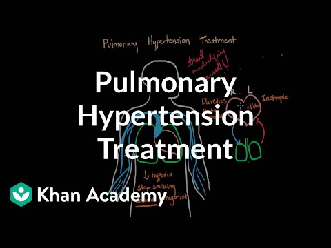 Pulmonary hypertension treatment   Respiratory system diseases   NCLEX-RN   Khan Academy