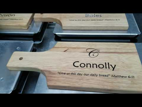 DTG Printer   Printing on Wood Cutting Boards