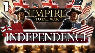RISE OF A NATION! Empire Total War: Darthmod  - Road To Independence USA Campaign #1