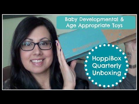 Hoppibox Quarterly Unboxing / Baby Developmental Toys
