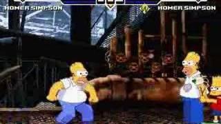 Mugen: Homer (Me) Vs. Homer (Brutal CPU Version)