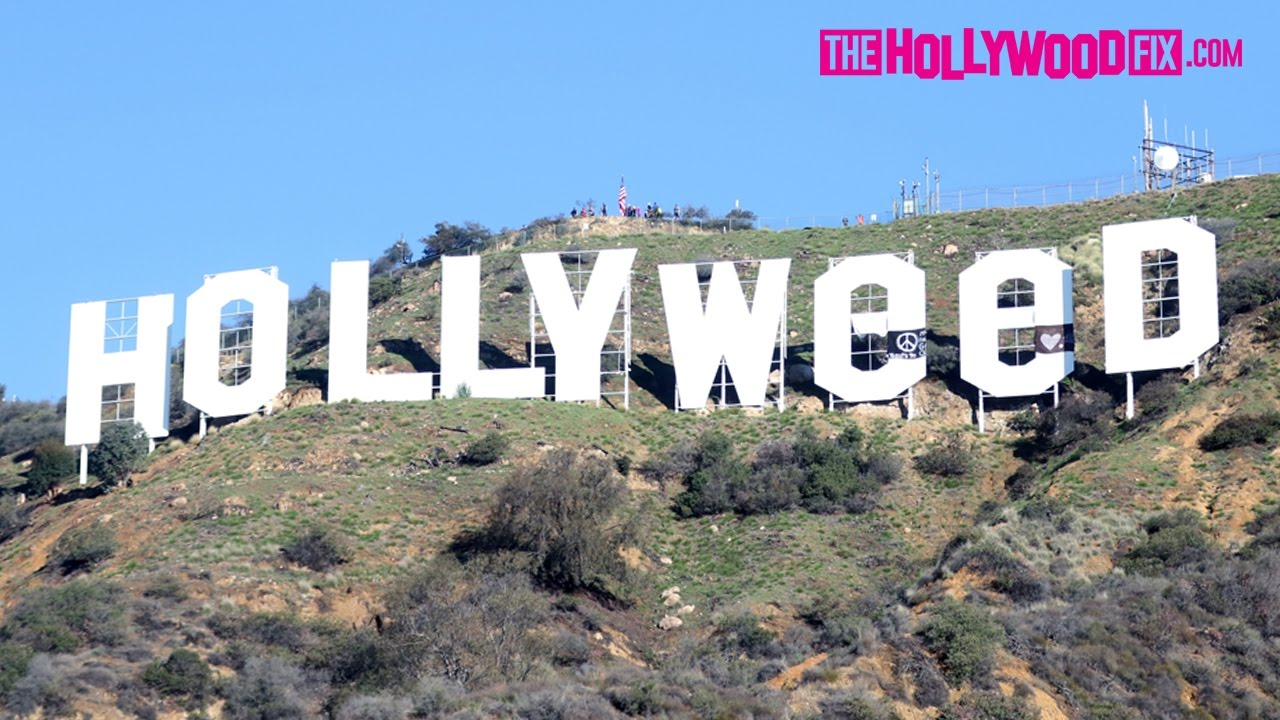 Hollywood Sign Vandalized To Read Hollyweed On New Years Day 1117
