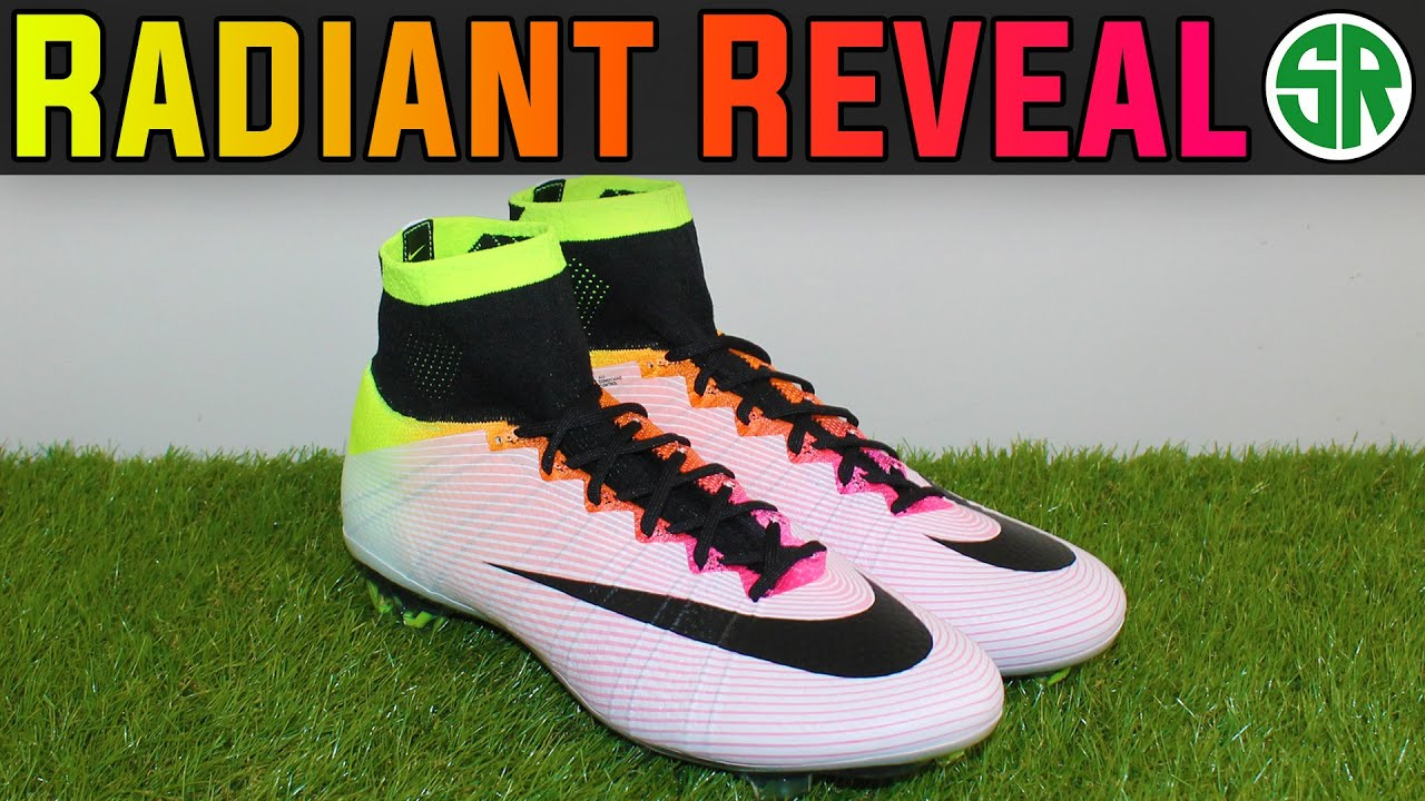 0254946f3 ... real nike mercurial superfly iv radiant reveal white volt total orange  hyper pink youtube 27fad 338c6 ...