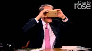 Charlie tries Google Cardboard for the first time (Nov. 9, 2015) | Charlie Rose