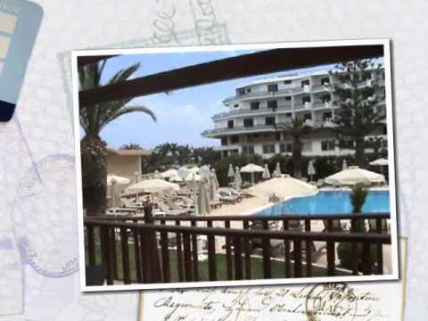 Sun Beach Resort Hotel, Trianda, Rhodes, Greek Islands, Real Holiday Reports.wmv