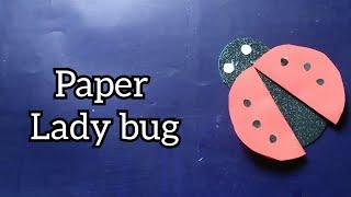 Paper crafts/Easy crafts for kids/CRafts/Papeer lady bud making/Diy crafts