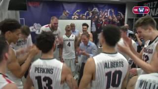 Gonzaga Celebrates After Final Four Win