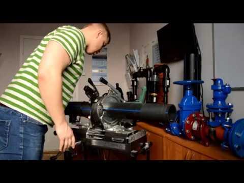 Изготовление сегментного тройника из ПНД - YouTube