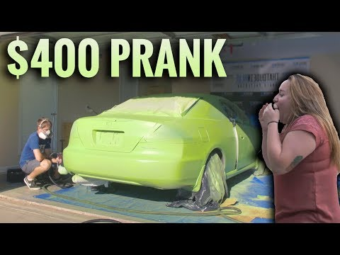 How to Plastidip an Entire Car! - 400 DOLLAR PLASTIDIP PRANK!