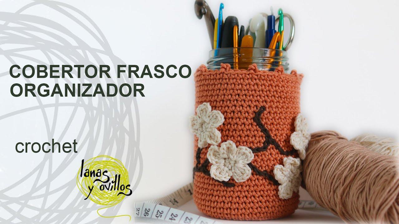 Tutorial Organizador Bote Crochet o Ganchillo - YouTube