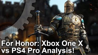 [4K] For Honor: Xbox One X vs PS4 Pro vs PC Graphics Comparison + Frame-Rate Test