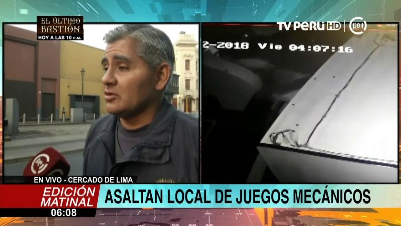 Cercado De Lima Tres Delincuentes Asaltan Local De Juegos Mecanicos