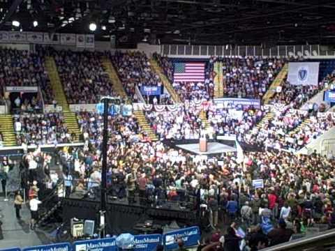 Bernie Sanders speaking in Springfield, MA