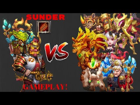 Ronin | Sunder Talent | VS | Top 14 Heroes | Castle Clash