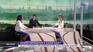 Adana Demirspor Başkan adayı Nilay Ateşoğulları BeinSports'a konuk oldu