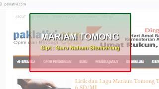 Gambar cover Lagu Mariam Tomong