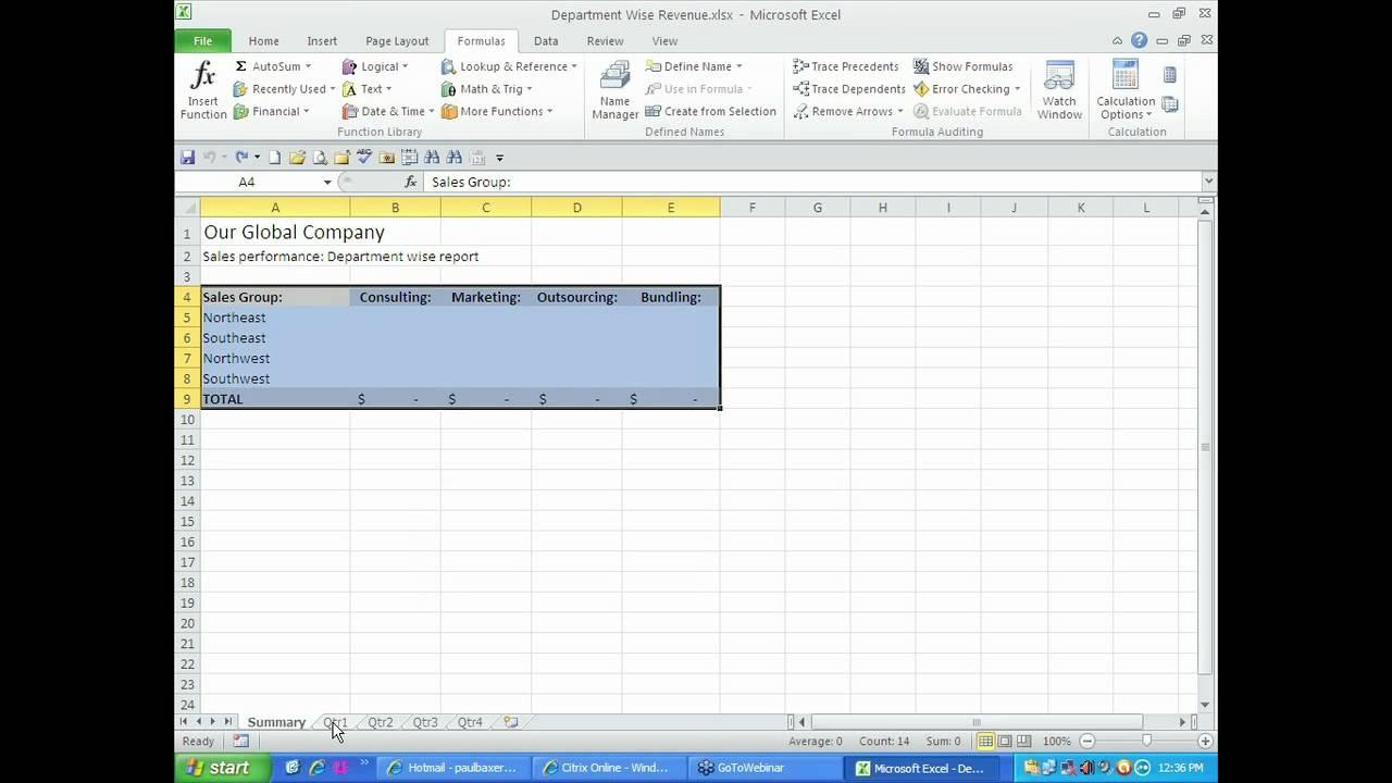 Microsoft Office Worksheets : Pivot table across worksheets microsoft office