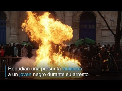 Protestas de jóvenes contra violencia policial en Francia