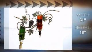 Abundant Grapes Of The Vineyard Metal Wall Wine Rack