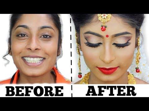 Traditional Bridal Makeup In Tamil   Mathury Mua
