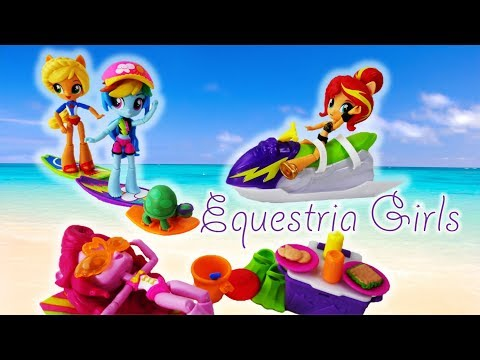 My Little Pony Equestria Girls Rainbow Dash Sporty Beach Set and Pop A Lotz Surprize Pops