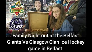 FAMILY NIGHT AT THE BELFAST GIANTS VS GLASGOW CLAN ICE HOCKEY GAME IN BELFAST