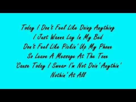 Bruno Mars - The Lazy Song (Lyrics)