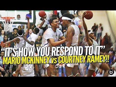 """""""IT'S HOW YOU RESPOND TO IT"""" Top PG's Mario Mckinney vs Courtney Ramey in Front Of Sold Out Crowd!"""