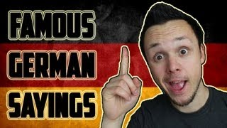 Learn Funny German Sayings/Proverbs