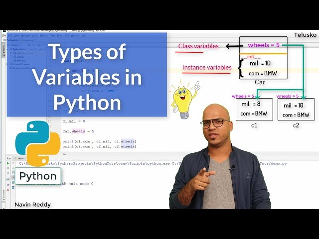 #52 Python Tutorial for Beginners | Types of Variables