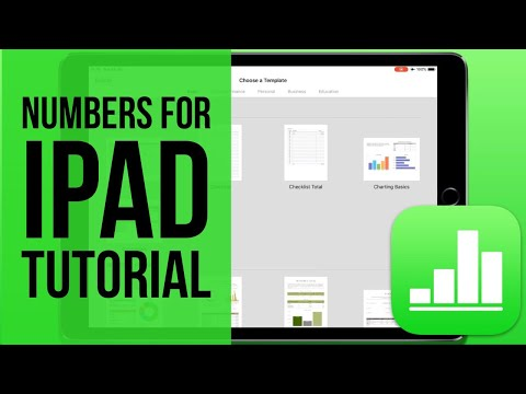 Numbers For IPad Tutorial 2019