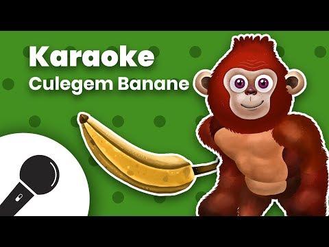 CULEGEM BANANE: Negativ Karaoke + Versuri  Planeta Vesela - Cantece pentru copii in limba romana
