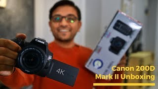 Canon 200D Mark II 4K DSLR Unboxing - My Vlogging Camera Upgrade