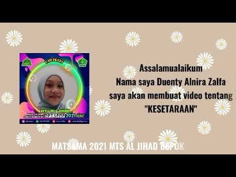 reativitas Peserta Matsama MTs Al-Jihad 2021 -
