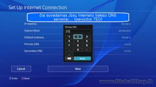 PlayStation 4 (PS4): How to add static IP address?