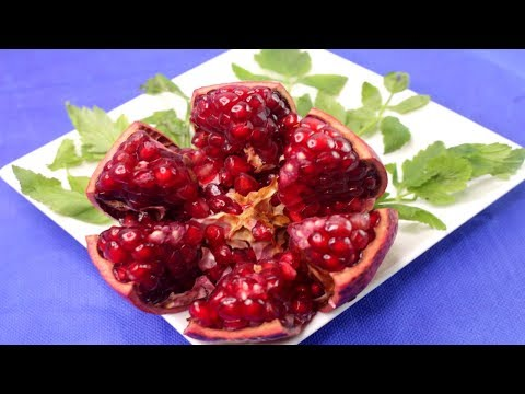 Best Way To Open & Eat A Pomegranate & Cutting Trick