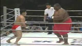 Repeat youtube video 600lbs Sumo Vs 169lbs MMA Fighter