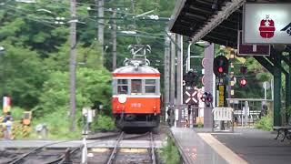 吊り掛けを迎え見送る…箱根登山鉄道・モハ1形 箱根湯本・強羅駅