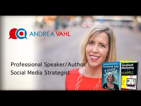 Facebook Marketing Speaker - Andrea Vahl
