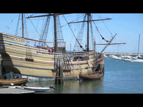 Happy Thanksgiving from the Mayflower Ship in Plymouth, Massachusetts, USA