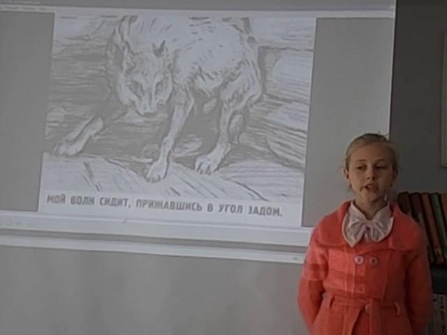 Изображение предпросмотра прочтения – СофьяИлларионова читает произведение «Волк на псарне» И.А.Крылова