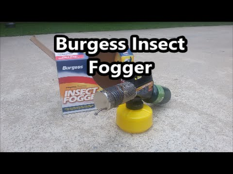 Burgess Insect Mosquito Fogger review and demonstration