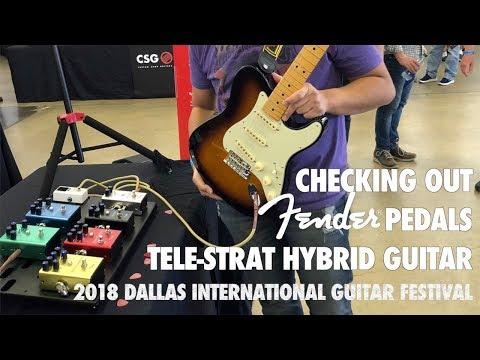 Checking out Fender Pedals | Strat-Tele Hybrid Guitar | 2018 Dallas International Guitar Festival