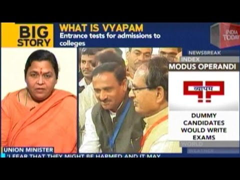 Vyapam Scam: Uma Bharati Gives First Television Interview