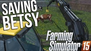 Farming Simulator 15 (2015) - Professional Logging and Cow Moving! - Farming Sim Gameplay Highlights